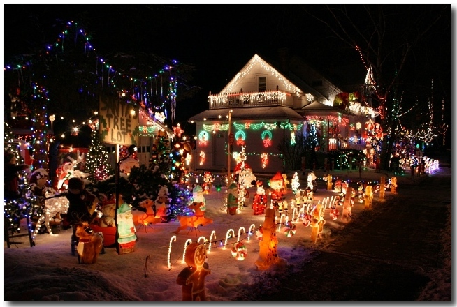 Crazy Christmas Light Display