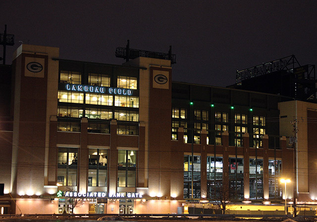 Lambeau Field Night Winter