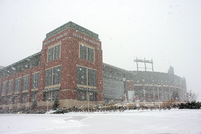 Lambeau Field Snow Blizzard Photo Beautiful