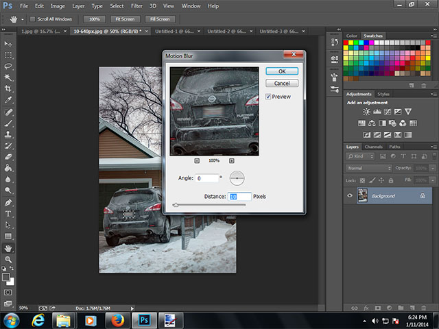 How to Blur License Plate Photoshop