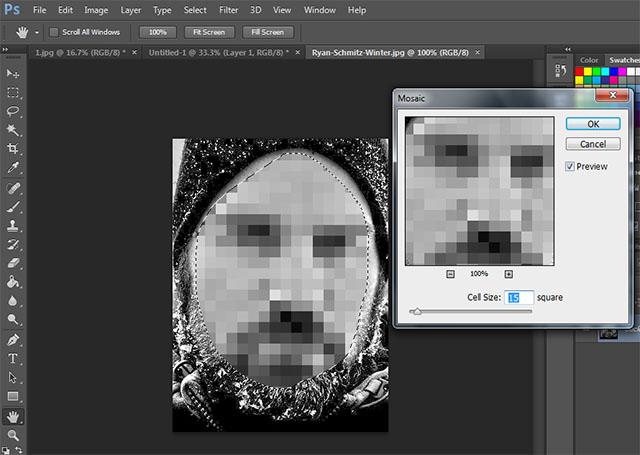 Pixelate Face Photoshop Tutorial